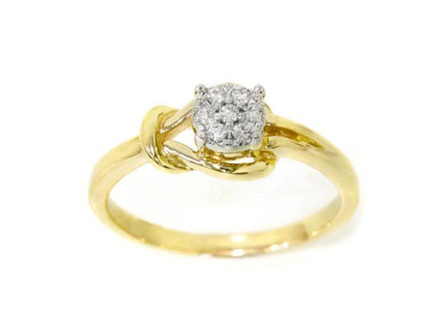 Diamond Promise Solitaire Ring 14K Yellow Gold
