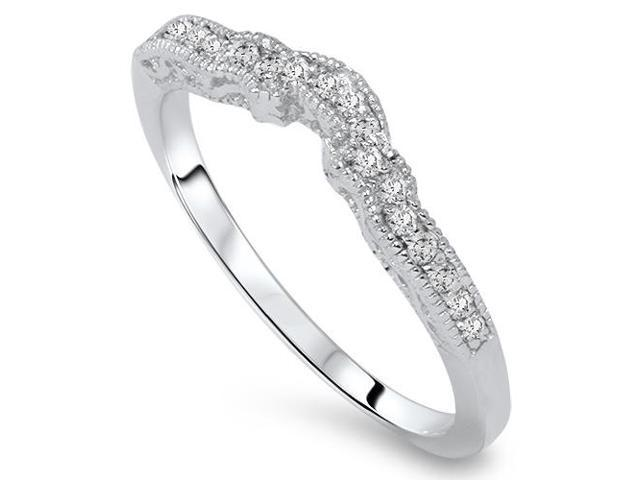 1/5ct Vintage Dimaond Wedding Engagement Ring Enhancer 14k White Gold