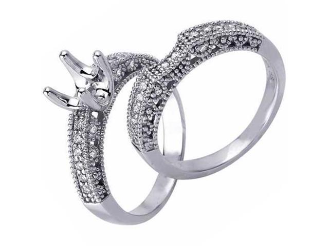 5/8ct Diamond Engagement Bridal Set Setting