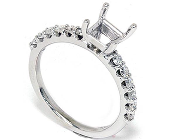 1/2CT Diamond Half Eternity Engagement Ring Setting 14K White Gold