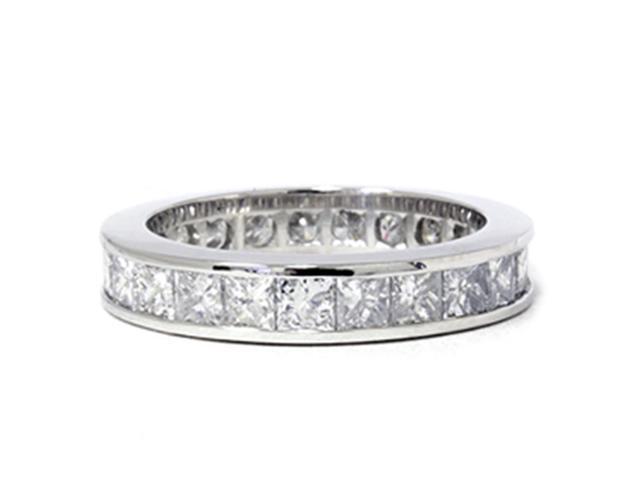 3ct Channel Set Diamond Eternity Ring 950 Palladium