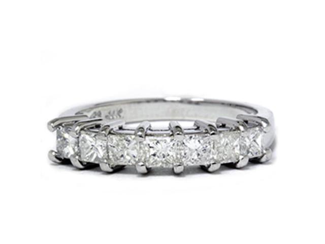 1ct Princess Cut Diamond Wedding Anniversary Ring 14k White Gold
