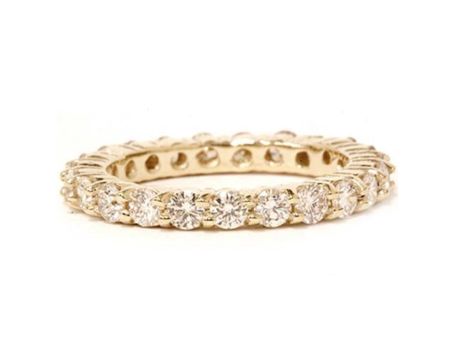2 ct Diamond Eternity Ring Womens Wedding Band 14K Yellow Gold