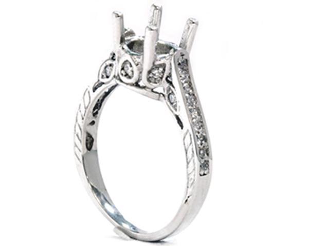 1/3ct Vintage 14K White Gold Diamond Engagement Ring Setting