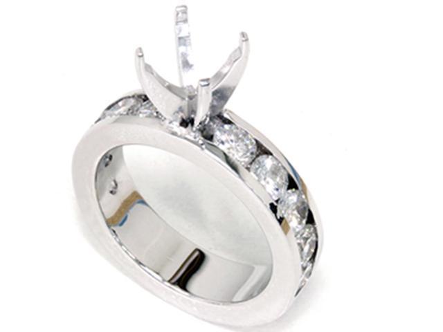 1 1/2ct Diamond Engagement Ring Semi Mount 14K White Gold