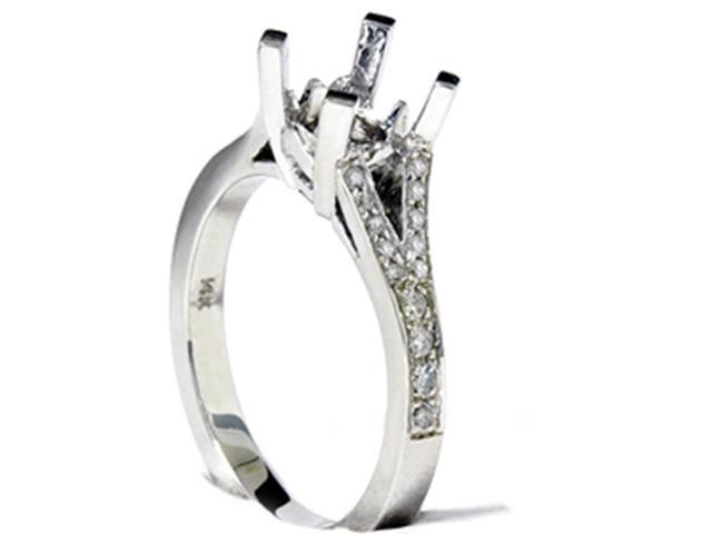 Women's 1/5ct Split Shank Diamond Mount Engagement Ring Setting