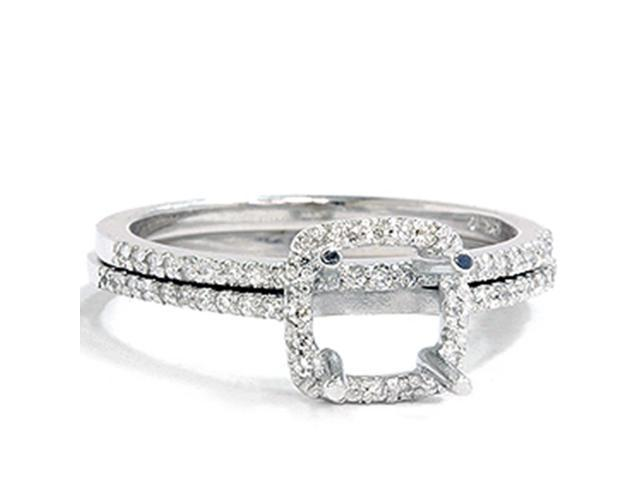 3/8CT Diamond Engagement  Bridal Set Mounting