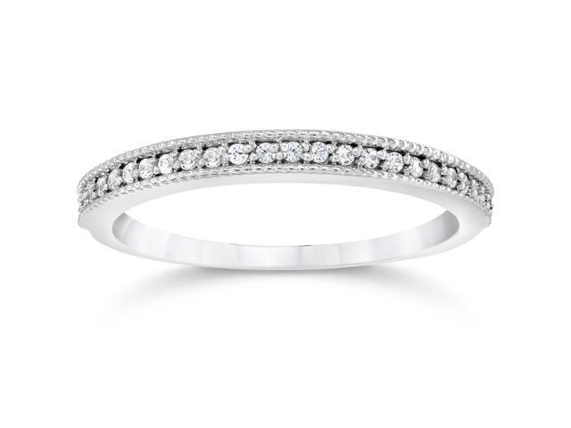 1/8ct Diamond Ring 14K White Gold