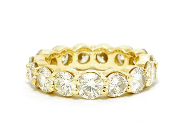 5ct Diamond Eternity Ring 14K Yellow Gold