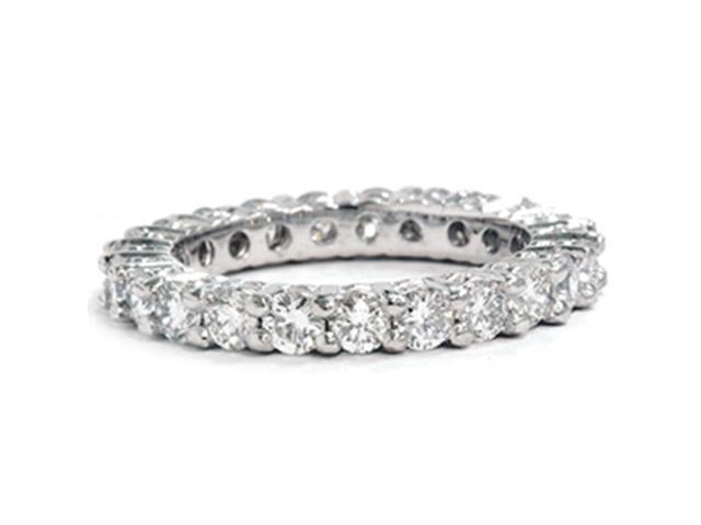 Womens's 2 3/8ct Diamond Eternity Stackable Ring 950 Platinum