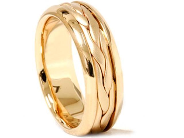 Hand Braided Wedding Band 14K Yellow Gold
