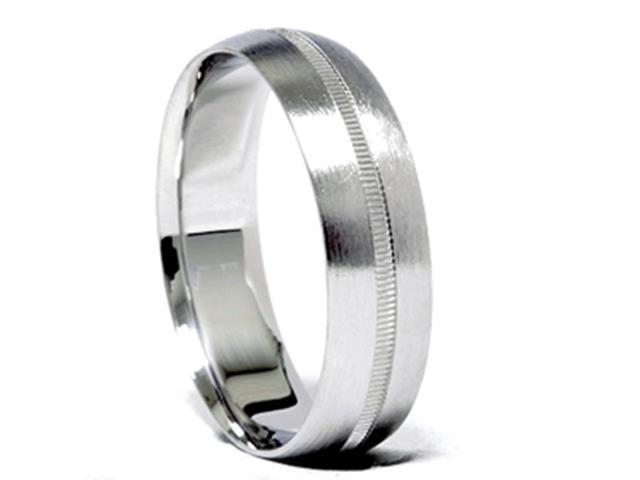 Men 6mm Gold Comfort Fit Satin Wedding Band New Ring