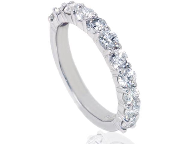 1 5/8ct Diamond Half Eternity Ring 14K White Gold