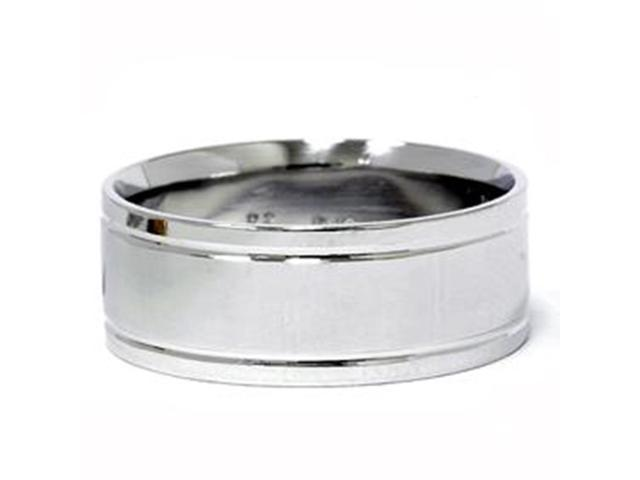 Double Inlay Wedding Band 950 Palladium