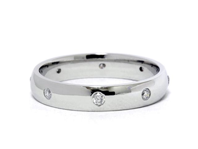 White Gold Diamond Wedding Eternity Anniversary Ring