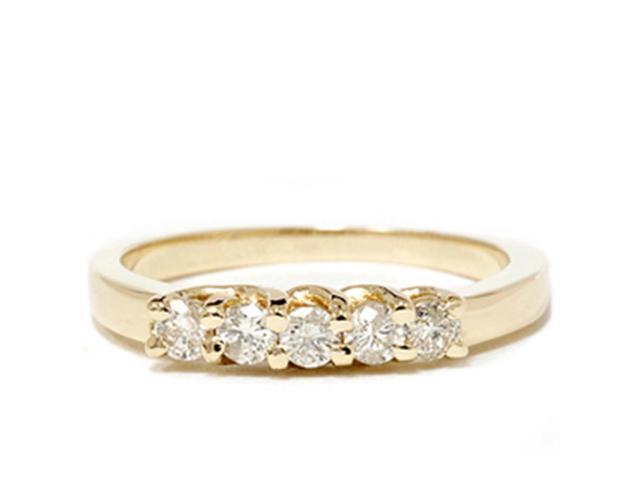 Yellow Gold 1/2ct 14K Diamond Wedding Guard Ring New