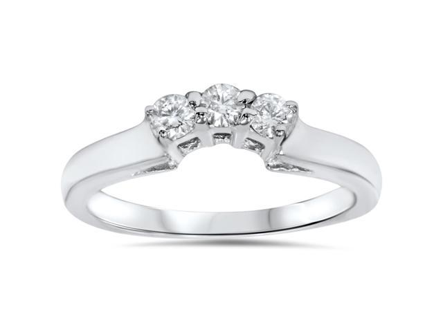 14K 1/4ct Diamond Wedding Anniversary Curved Guard Ring