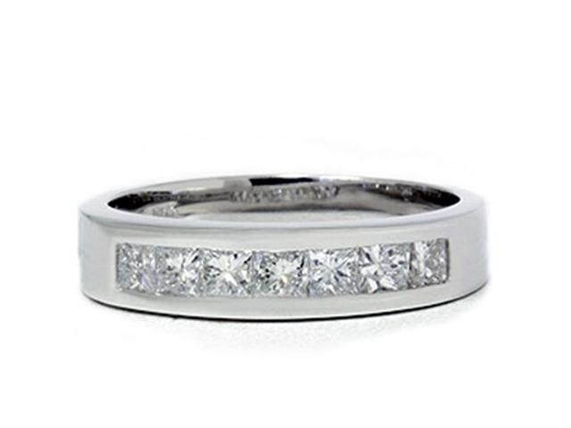 1 1/2ct Princess Cut Mens Real Diamond Wedding 14K Ring