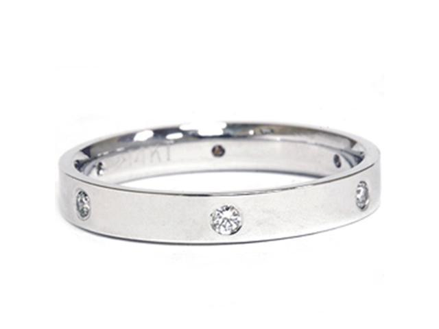 14k White Gold Diamond Eternity Anniversary Band