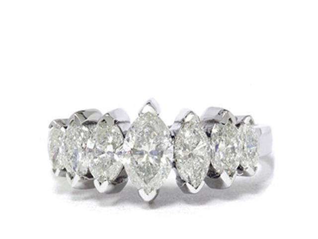 1 7/8ct Huge Marquise Real Diamond Anniversary 14K Ring