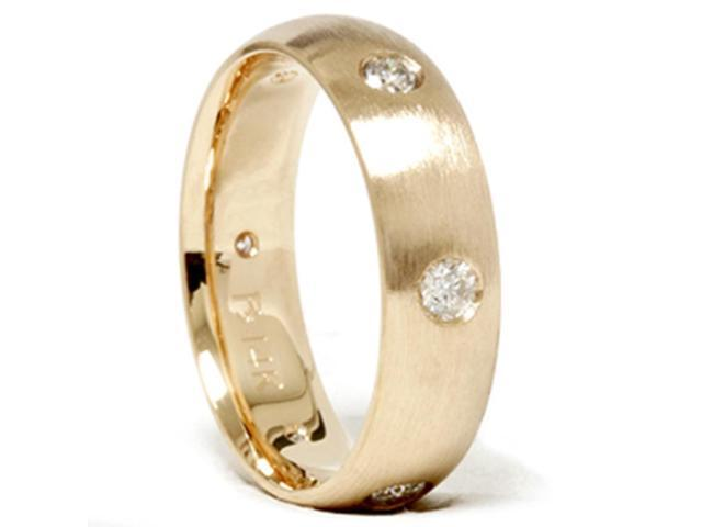 Mens 3/4ct Gold Diamond Comfort Fit Wedding Ring Band