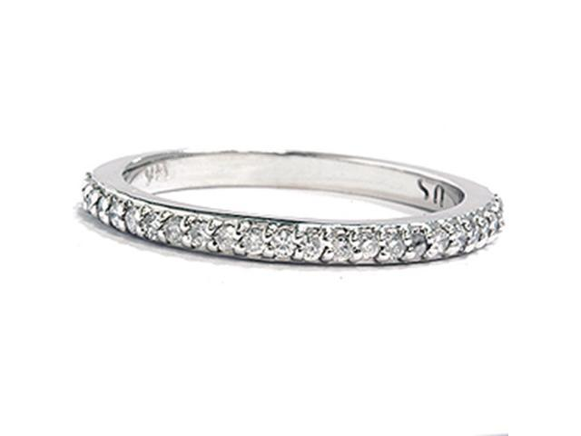 1/4ct Diamond Anniversary Wedding Ring 14K White Gold