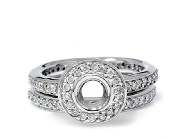 1ct Diamond Engagement Matching Wedding Ring Set