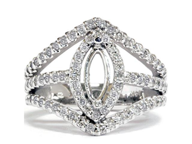 7/8ct Marquise Diamond Semi Mount Setting
