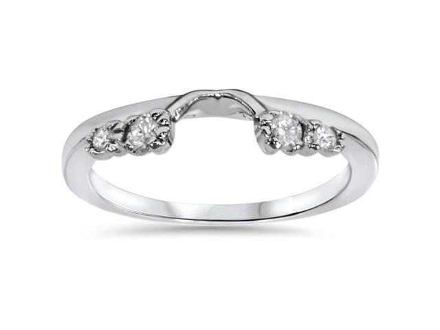 1/5ct Diamond Enhancer Ring 14K White Gold