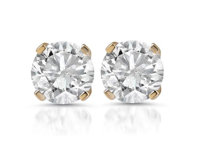 1 1/2ct Diamond Studs 14K Yellow Gold
