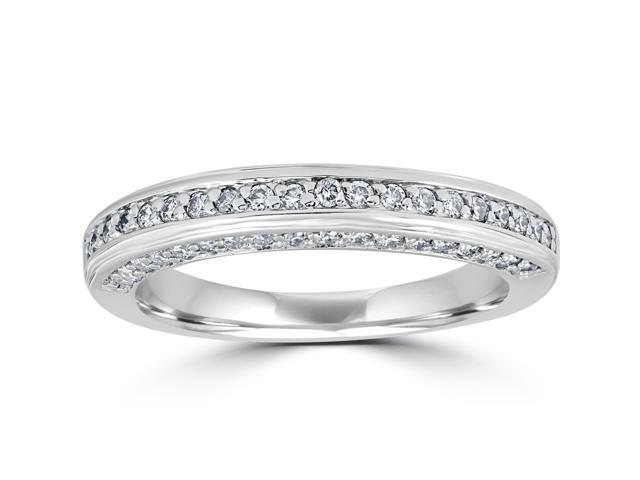 5/8ct Diamond Wedding Engagement Ring 14k White Gold Anniversary Ring