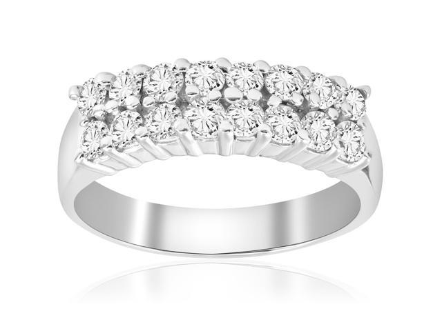 1 5/8ct Diamond Anniversary Wedding Womens 14k White Gold Bridal Ring Jewelry