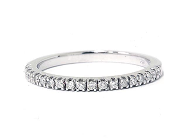 1/6ct Diamond Wedding Ring 14K White Gold