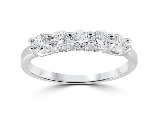 Women's 1/2ct Diamond Wedding Anniversay Ring 14K White Gold
