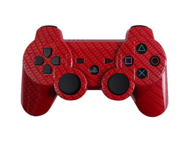 Custom PS3 Controller - Red Silver Carbon Fiber PlayStation 3 Controller