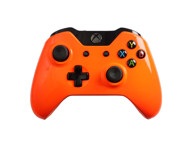 Custom Xbox One Controller with Glossy Orange Shell