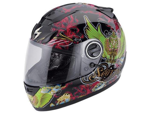Scorpion EXO-750 Kingdom Full-Face Helmet Black/Green LG