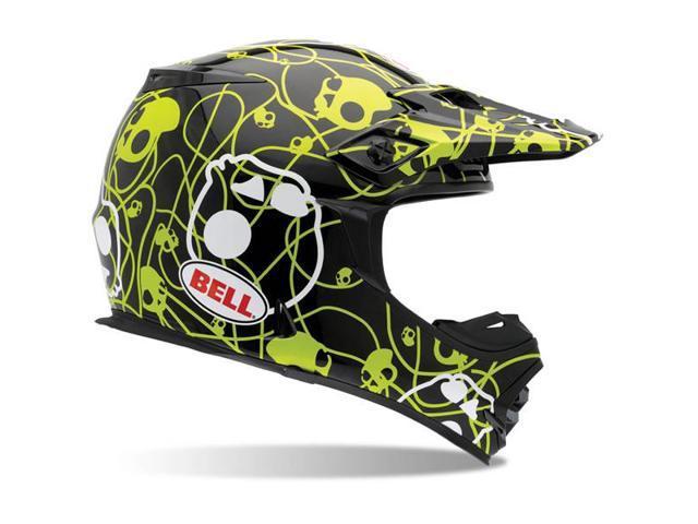 Bell MX-2 Skullcandy Ribbons MX Motocross Helmet Black/Green XS ...