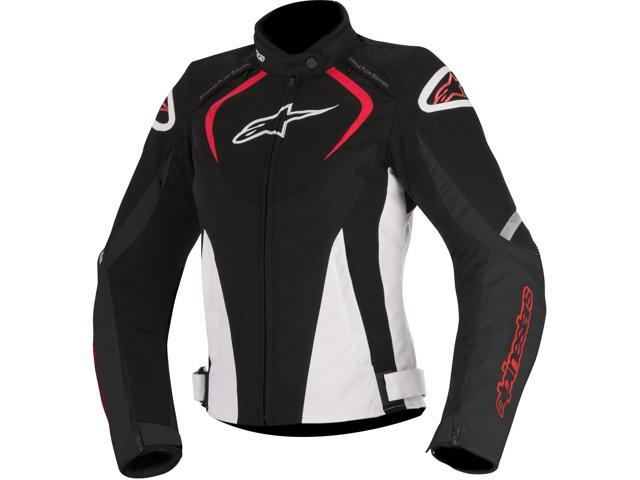 Alpinestars Stella T-Jaws WP All-Weather Womens Sport Riding Jacket Black/White/Red LG