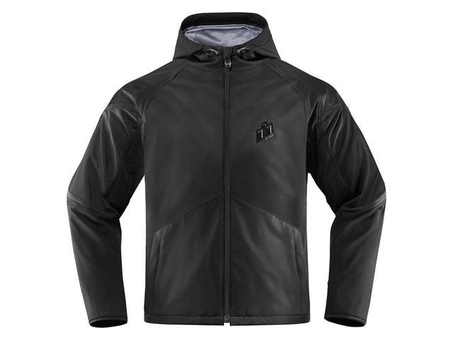 Icon Merc Stealth Mens Textile Jacket Black MD
