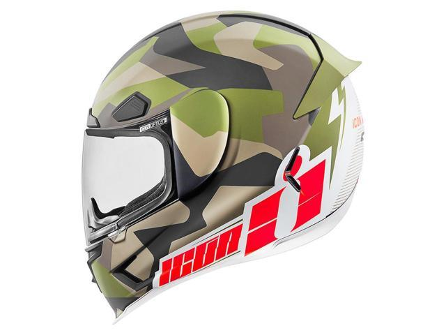 Icon Airframe Pro Deployed Full Face Helmet Camo/White/Red LG