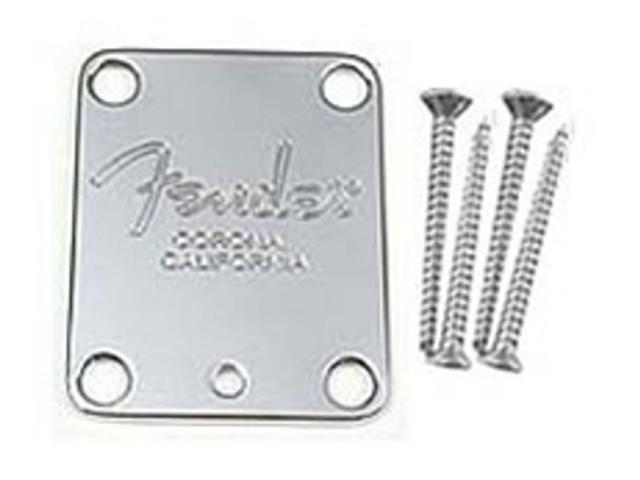 Fender Neckplates - American Standard Guitar - Chrome