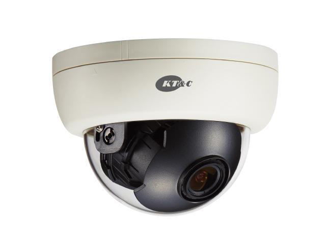KT&C Color Dome Camera 700 TVL, 2.8~12mm Adjustable Lens, 2D-DNR, DUAL power, KPC-DE100NUV17