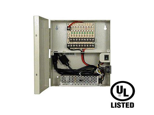Power Supply Distribution Box - 12V DC 9 channels 10 Amps Fused UL Listed