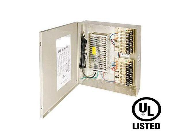 B-TRON Power Distribution Box 12V DC Regulated 4ch 4 Amps UL Listed, Fused or PTC