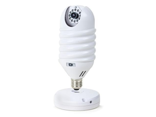 White Light Bulb Shaped Lamp Type Ip Network Camera With