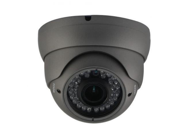 HD-SDI OUTDOOR TURRET DOME IR CAMERA: 2 MEGAPIXEL FULL HD 1080P IMAGE, 2.8-12MM OSD DUAL VIDEO 36 IR ( Grey Color )