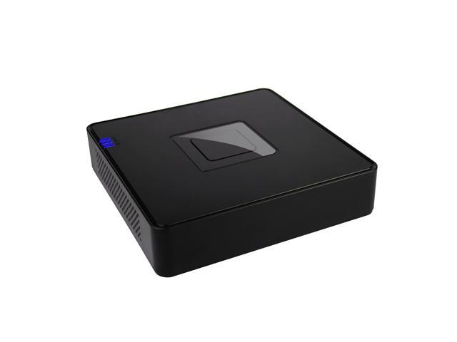 Compact Size 4CH 960H Realtime Network DVR system, VGA, and BNC output Barebone ( Black Color )