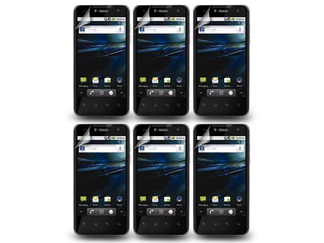 Lot 6X LCD Clear Screen Protector Film Cover +Cloth For LG Optimus G2X P999 P990