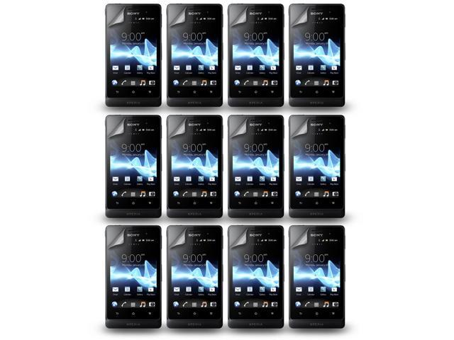 Lot 12X LCD Clear Touch Screen Protector Film Guard For Sony Xperia Go ST27i